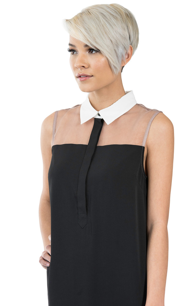 Candice organza sleeveless top – kaii