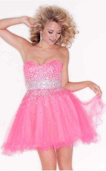 Mori Lee 9210 Sticks & Stones Babydoll Pink Short Homecoming Dress [Mori Lee 9210 Pink Short Dress] - $128.00 : Fashion Cheap Homecoming Dresses for Girls at homecomingdressesfashion.com