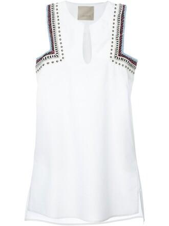 dress embroidered women white cotton
