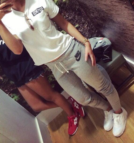 sportswear cool swag girl sports pants