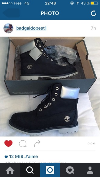 shoes timberlands timberland black black shoes black timberlands argent silver timberland boots