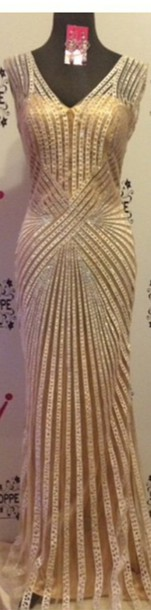 dress prom dress nude dress gold sequins gold dress