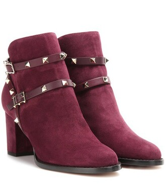 suede ankle boots boots ankle boots suede purple shoes