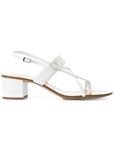 GIUSEPPE ZANOTTI DESIGN cross women sandals leather white shoes