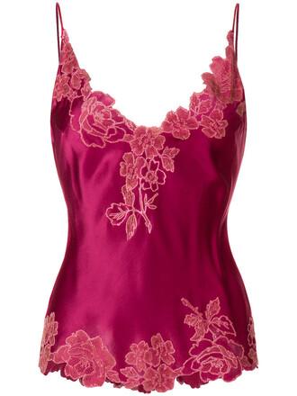 camisole women lace silk purple pink underwear