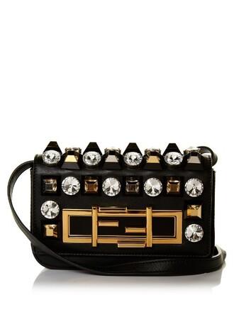 mini embellished bag shoulder bag leather gold black