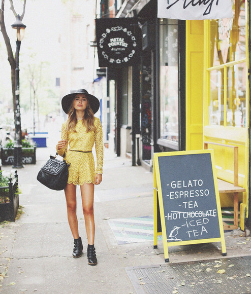 boho class is internal romper shoes bag jewels yellow yellow dress Belt boots dolce & gabbana blogger summer outfits summer dress hipster boho chic elegant classy