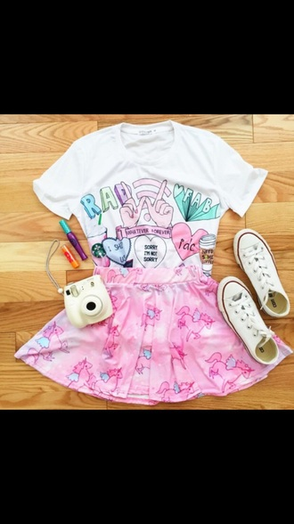 shirt colorful pink baby blue