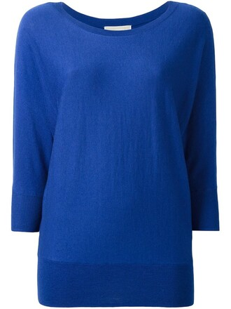 jumper women classic blue sweater