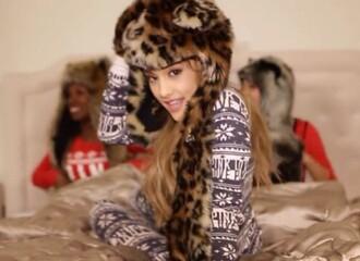 pajamas onesie one piece aztec christmas ariana grande santa shirt
