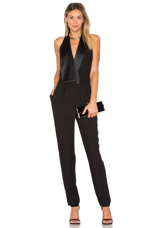 b2ae96616e81 Halston Heritage Asymmetrical Wide Leg Jumpsuit - Black - Wheretoget