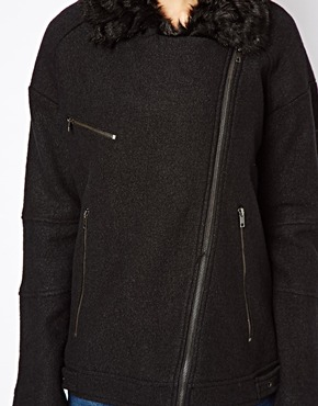 Warehouse | Warehouse Wool Biker Jacket at ASOS