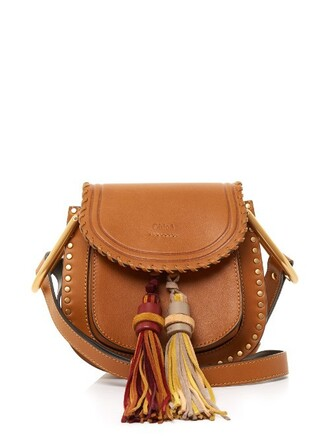 cross tassel bag leather tan