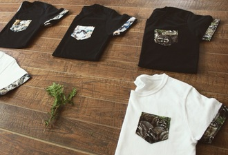 t-shirt animal pockets pocket t-shirt casual streetwear animal face print wolf girly