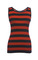 Striped sleeveless knit top by dolce & gabbana