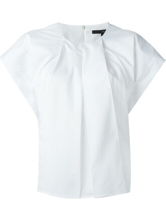 t-shirt shirt pleated white top