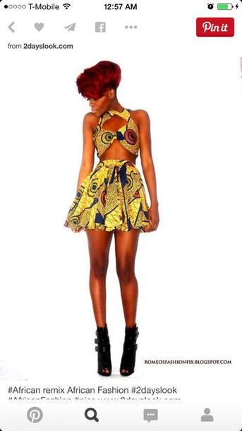 dress african dress set