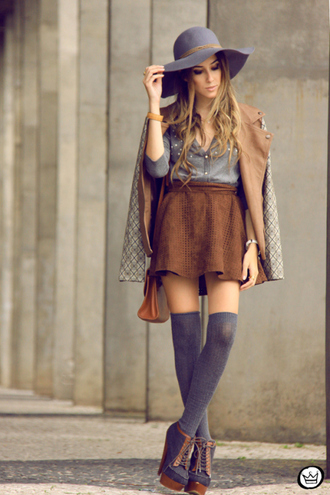 fashion coolture skirt sweater jacket hat shoes