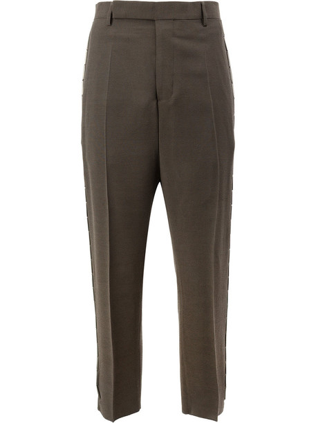Rick Owens women beaded wool grey pants