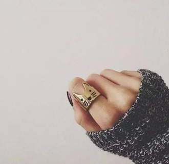 ring jewelry cats hipster
