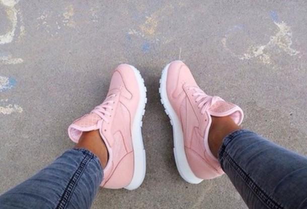 Reebok Light Pink Trainers Jlapressureulcerpartnership Co Uk