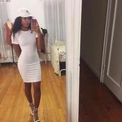 shoes,nude,heels,dress,white dress,shirt dress