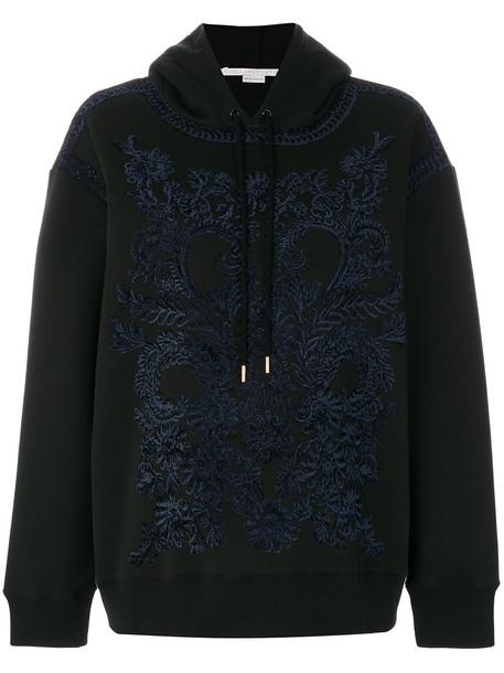 Stella McCartney hoodie embroidered women cotton black sweater