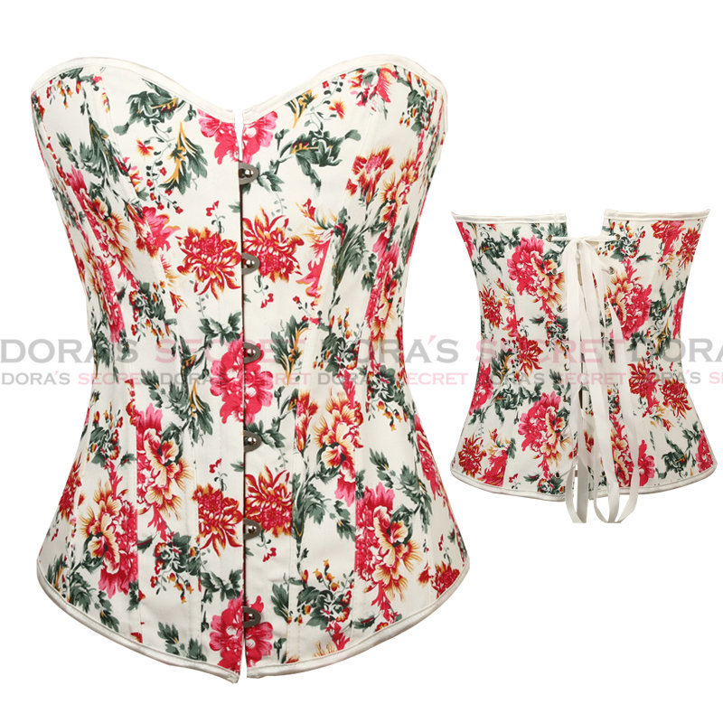 3.25 Shopping Festival 2014 DORA'S SECRET Red Floral Bustier Top Sexy New Arrival Corset S/M/L/XL/XXL-in Bustiers & Corsets from Apparel & Accessories on Aliexpress.com