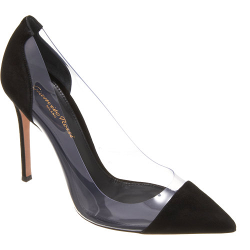 Gianvito Rossi Plexy Combo Pump at Barneys.com