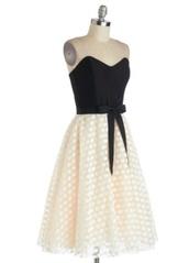 dress,little black dress,polka dots,a line,a line dress