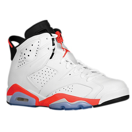 reputable site 7583a 3f3af Jordan Retro 6 - Men's - Basketball - Shoes - White/Infrared 23/Black