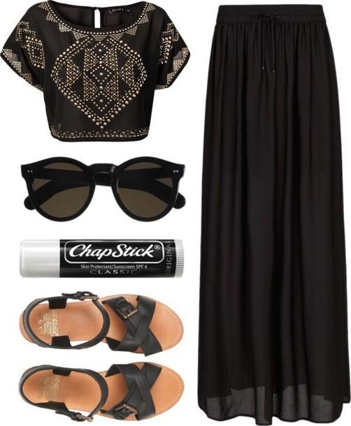 blouse long skirt