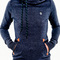 Naketano darth long indigo blue melange women hoodie kapuze pullover