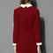 Lovely smile knitted shift dress in red - retro, indie and unique fashion