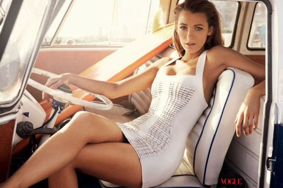 dress blake lively vogue magazine tube dress white dress
