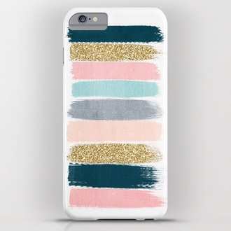 phone cover white colorful girly cute iphone 6 plus glitter pastel petrol