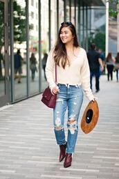 whatever is lovely – a houston life and style blog by lynne gabriel,blogger,sweater,jeans,bag,shoes,sunglasses,jewels,ankle boots,ripped jeans,fall outfits