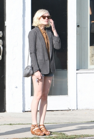 kirsten dunst clogs brown shoes orange shoes shoes sandals