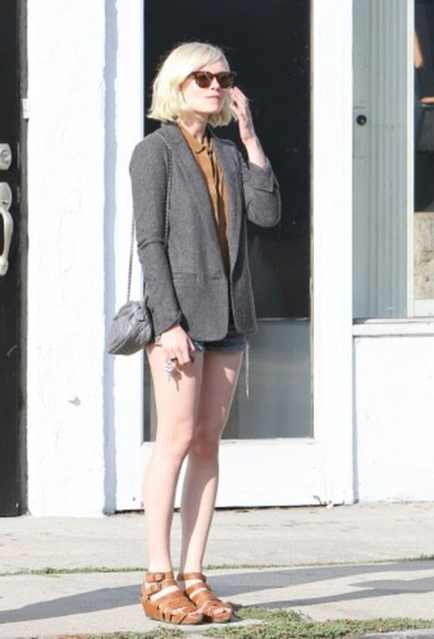 kirsten dunst sandals clogs brown shoes orange shoes