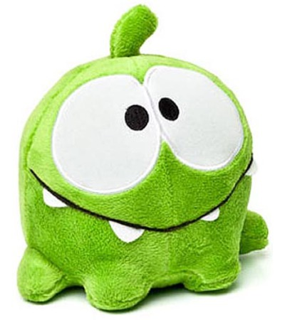 "Cut the rope om nom 16"" plush at toynk toys"