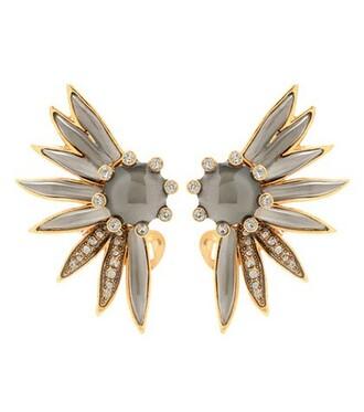 embellished earrings grey jewels