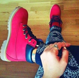 shoes timberlands pink shoes