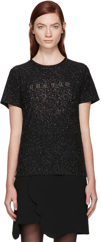 t-shirt shirt black top