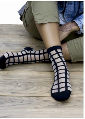 socks checkered sock black socks kylie jenner kardashians