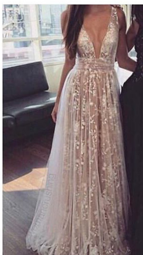 2e2d41797539 dress prom dress prom prom gown long dress long prom dress glitter white  light tan floral
