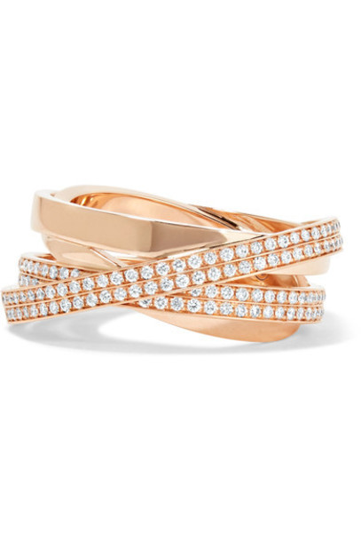 Repossi diamond ring rose gold rose ring gold jewels