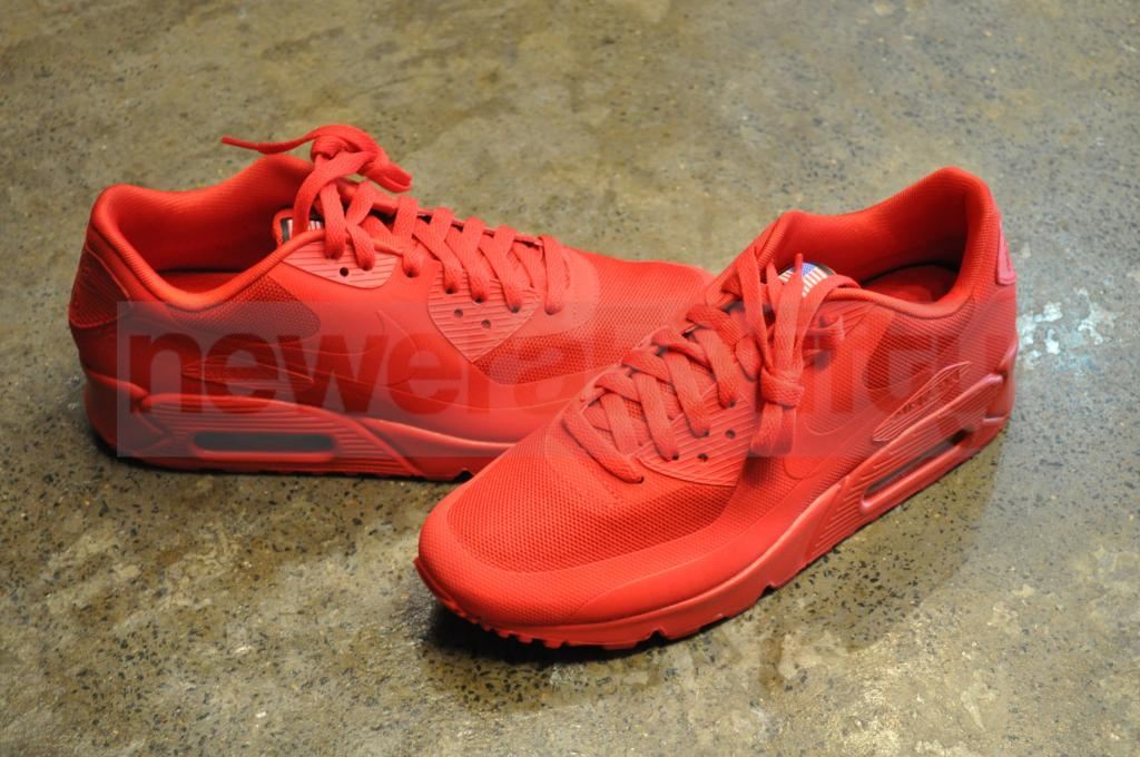 nike air max 90 hyp qs independence day sport red metallic