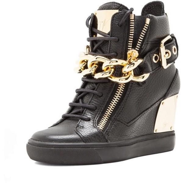 Giuseppe zanotti high heels black and gold