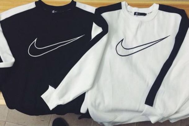 shirt sweatshirt online crewneck black t-shirt black and white nike air nike sweater sweater nike crew neck nike black white grey nikesweater aliexpress nikelogo