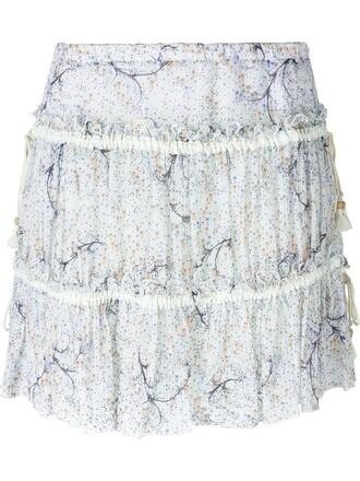skirt print white